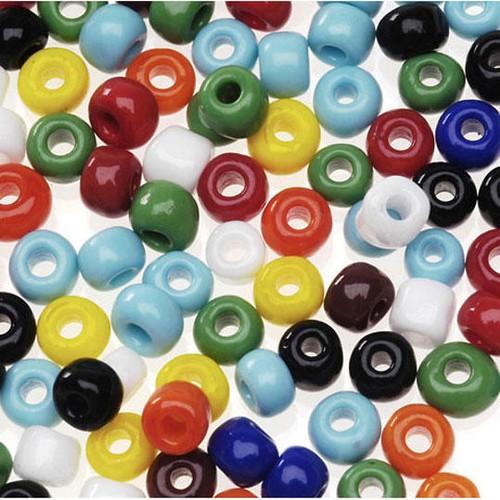 1/2lb Bag Of Glass E Beads Multi Coloured (0726-64)