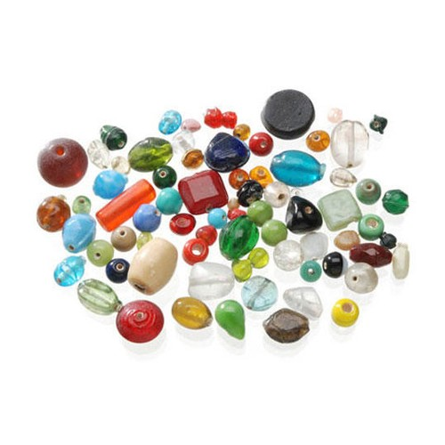 1lb x Assorted Glass Beads (0726-70)