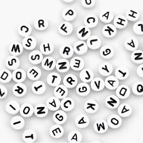 Alpha Beads 7mm White 150 Piece (0791-21)