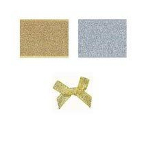 (08606L) Ribbon Bow 7mm Lurex (Silver)