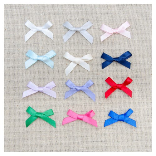 (08606S) Ribbon Bow 7mm (850 Brown)