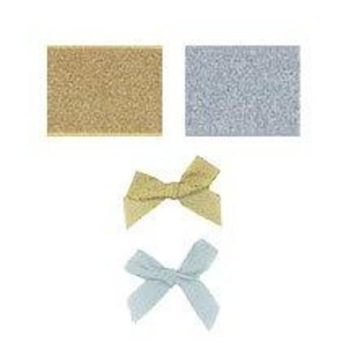 100 x 15mm (08615L) Ribbon Bow Lurex  (Gold)