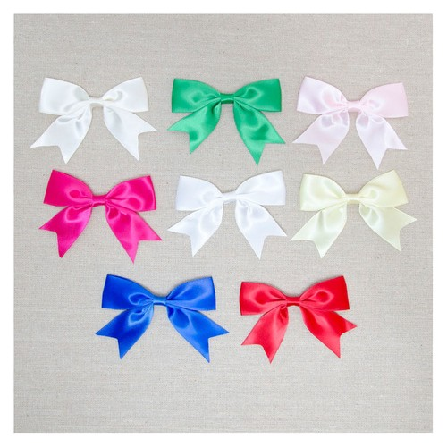 25mm Single Satin Bow 50pcs Per Pack (08625S) (Ivory 028)
