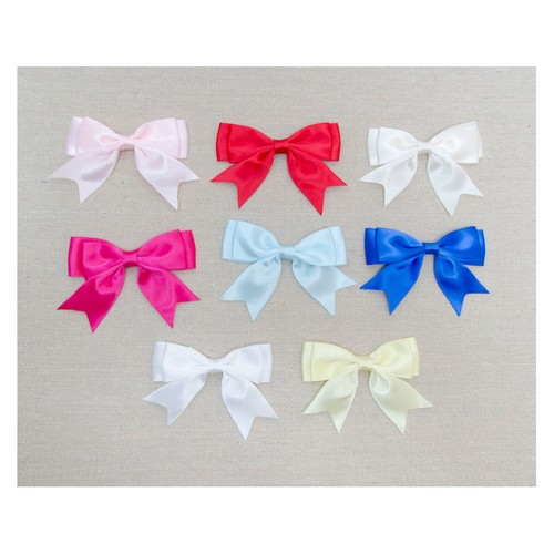 25mm Single Satin Double Bows Ribbon 50pcs (08625SD) (Forest Green 587)