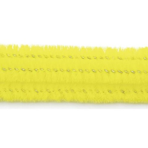 100 x Chenille Stem (Pipe Cleaners) Yellow (10166-20)