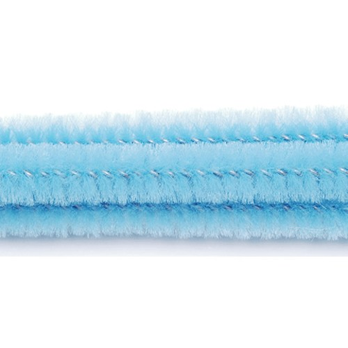 100 x Chenille Stems (Pipe Cleaners) Pale Blue (10166-43)