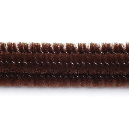 100 x Chenille Stems (Pipe Cleaners) Brown (10166-50)