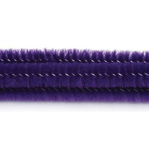 100 x Chenille Stems (Pipe Cleaners) Purple (10166-70)