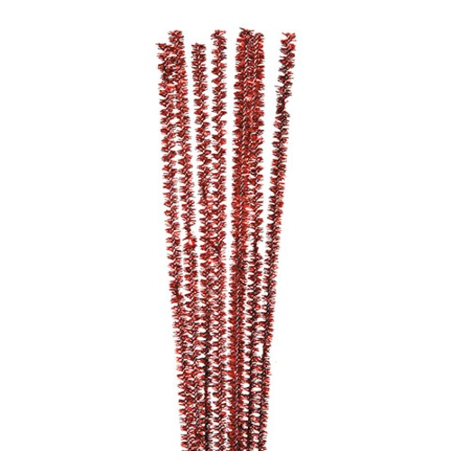 100 x Tinsel Stems (Pipe Cleaners) Red (10171-30)
