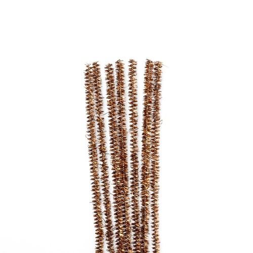 Tinsel Stems (Pipe Cleaners) Brown 100 Box (10171-35)