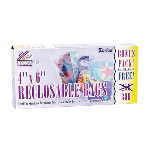 Reclosable Bags 4 x 6 Inch 300 Value Pack (1115-11)