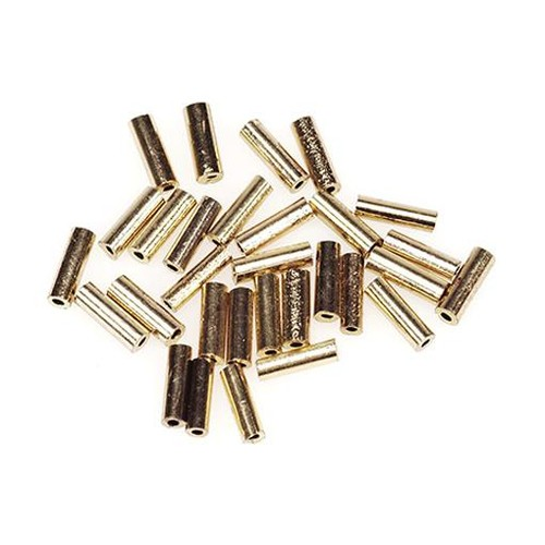 Glass Bugle Beads 1/4 Inch Gold 20 Gram (1118-27)