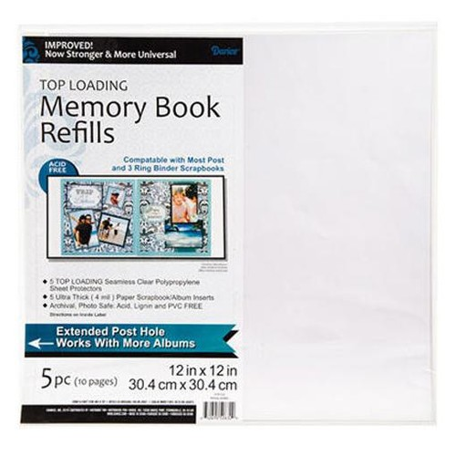 Memory Book Refills 12 x 12 Inch 10 Page Pack (1201-54)