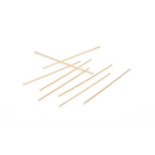 Head Pins 1 Inch Gold Plated Brass 30 Piece (1913-03)