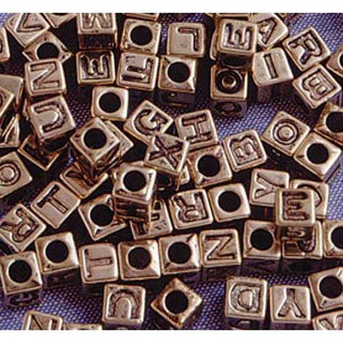 6mm Alpha Beads Antique Gold 85 Piece (1930-25)