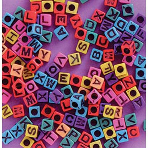6mm Alpha Beads Plastic Assorted Colours (1935-94)