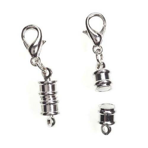 2 x Magnetic Clasp Converters 7mm Silver (1975-73)