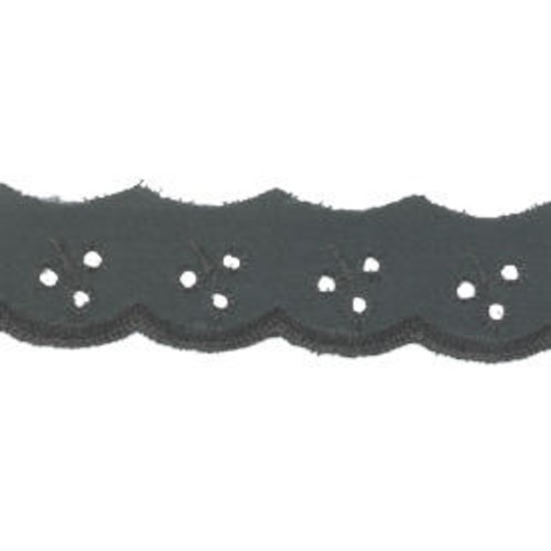 25mm Broderie Anglaise Black 54.8m (210070)