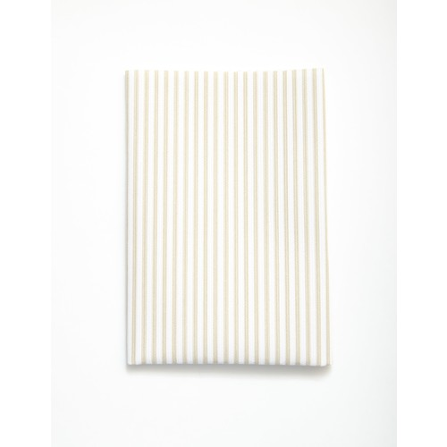 (2129-100) - A4 Fusible Fabric - Beige Stripes