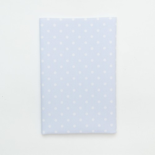 (2129-114) - A4 Fusible Fabric - White Polka-Dot on Sky