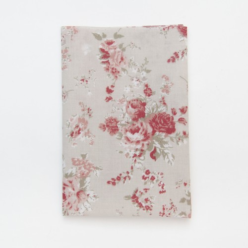 (2129-130) - A4 Fusible Fabric - Antique Rose on Natural