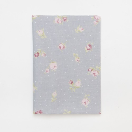 (2129-180) - A4 Fusible Fabric - Pastel Rose on Grey