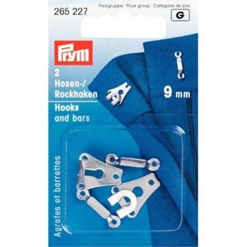 2 x 9mm Hook & Bar Nickel (265227)