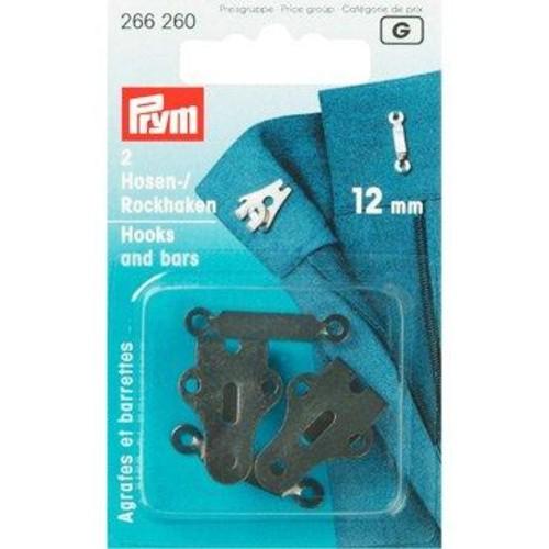 2 x 12mm Hook & Bar Black (266260)