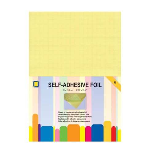 Double-Sided Adhesive Foil A4 Transparent 4 Pack