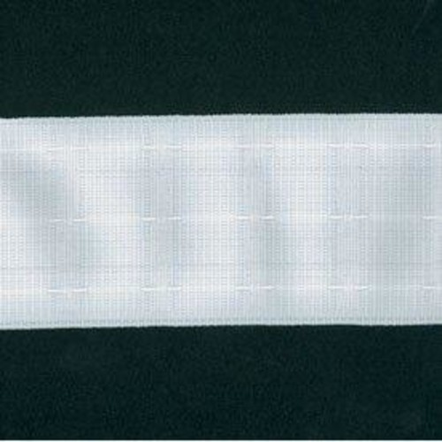 75mm Curtain Tape Touch Pleat White 50m 30402