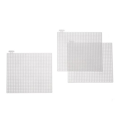 10 x Plastic Canvas 4 Inch Square Shapes 7 Mesh (33019)