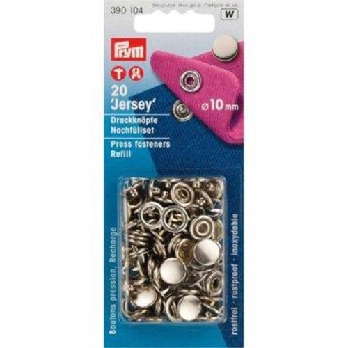 10mm Press Fasteners Jersey Cap Refill 20Piece Cd