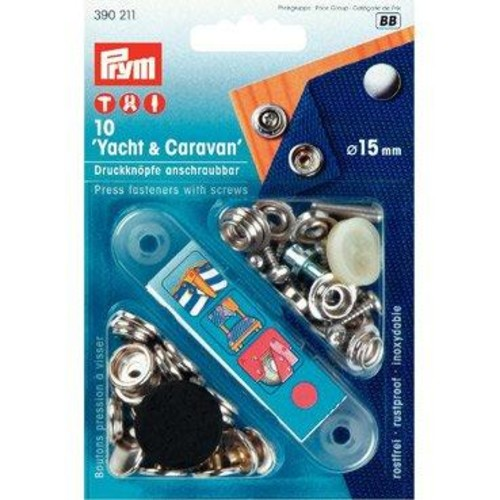 10 x 15mm Press Fasteners Yacht & Caravan