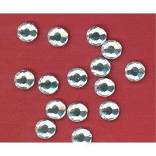 144 x 9mm Foil Back Diamante Stone Clear