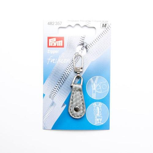 Fashion Zipper Pull Imitation Leather Silver/Grey (482357)