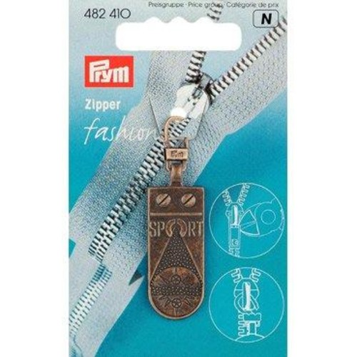 Fashion Zipper Puller Antique Sport (482410)