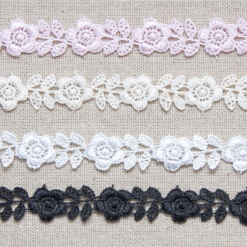 15mm Guipure Rose 27.4m (4877) (Ivory)