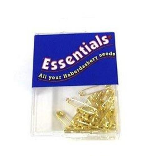 Essentials Assorted Brass Safety Pins 30 Piece Box