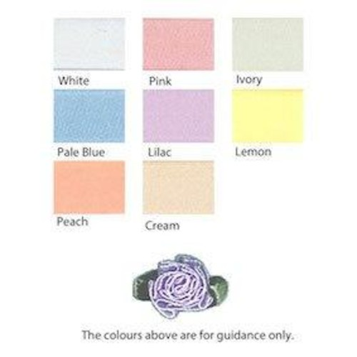 100 x Sheer Ribbon Flower (53309S) (117 Pale Pink)
