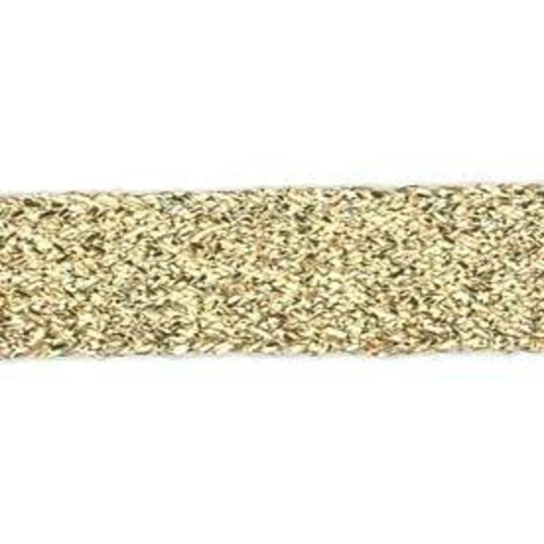19mm (656C) - Flat Lurex Braid 15- x 50m Card (Gold)