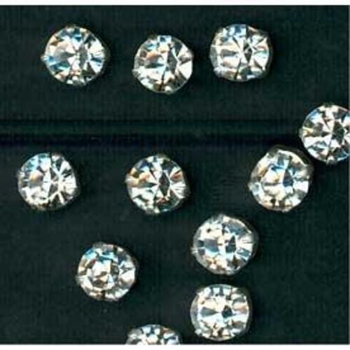 144 x Brilliant Cut Sew Diamante 16 Small