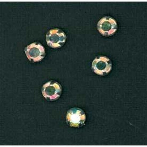 6mm Brilliant Cut Sew On Diamante 30 AB 144 Pack