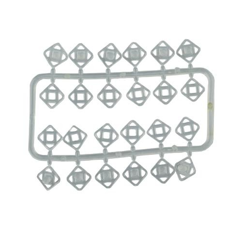 Nylon Snap Fastener 7mm Clear 12 Set (74551)