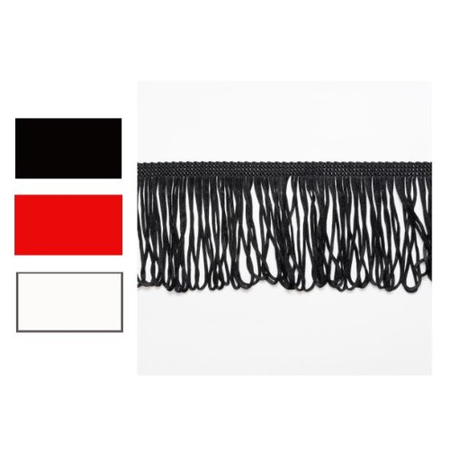 (8529L10) Looped Dress Fringe 10cm x 25m (220 Black)