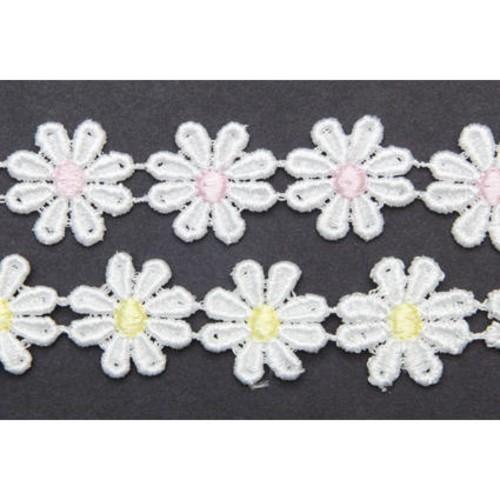25mm x 27.4m Guipure Daisy Multi Spot (90814)