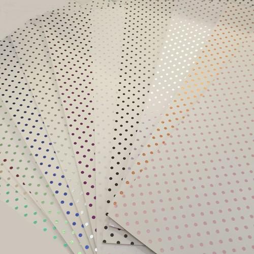 3 x A4 White Foil Polka Dot Black (A4WBLK)