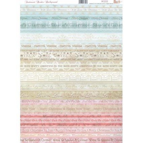 Backgrounds Sentiment Borders 2 A4 Set (AC222)