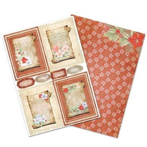 Toppers Poinsettia Scroll 2 A4 Set (AC360)