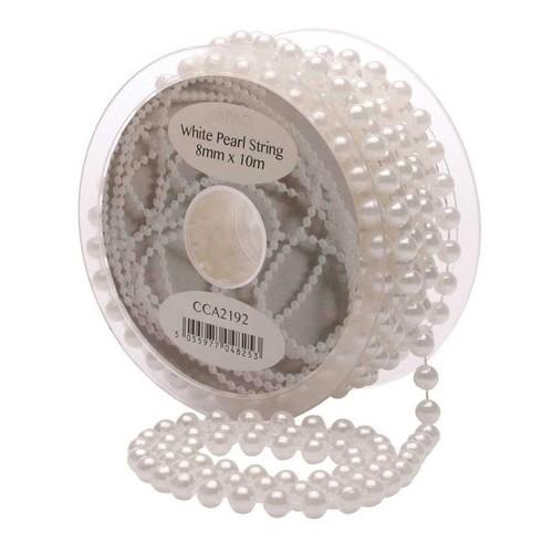 8mm White Pearls/Bead String 10m (AP-CCA2192)