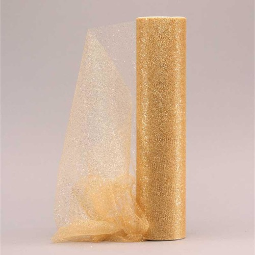 Sparkle Tulle Gold 30cm x 23m (AP-OR0320)